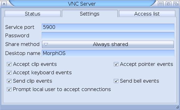 Applications/VNCServer - MorphOS Library