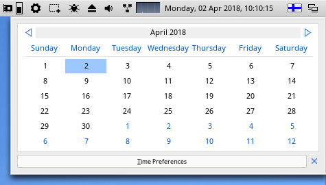 MorphOS 3.10 Screenbar Calendar.png
